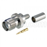 RP-TNC Crimp Jack for RG58, 195-Series Cable