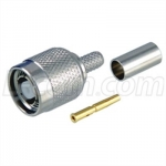 RP-TNC Crimp Plug for RG58, 195-Series Cable