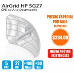 AirGrid M High Power, 5GHz, 25dBm 17x24 27 dBi antenna