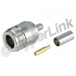 Connector N-Female Crimp for RG58, 195-Series