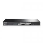 JetStream-Switch Administrable, 16 Ptos. GigaEther + 2 Ptos. SFP