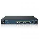 Switch PoE Administrable L2, 8 Ptos. GigaEthernet + 2 SFP Uplink