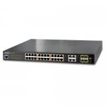 Switch PoE+ Administrable 24 Ptos. GigaEther + 4xSFP. PoE: 220W