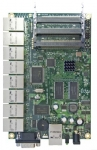 Tarjeta Router 680MHz, 128MB RAM, 9 Ptos. Ethernet y  3 miniPCI